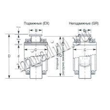 Роликоподшипник  разъёмный корпусный 03 BCZ 180 EX AT COOPER