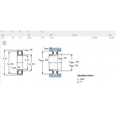 Шарикоподшипники радиальные 6202-2Z/C3 SKF