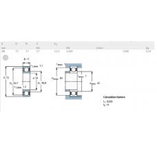Шарикоподшипники радиальные 6207-2RS/C3 SKF